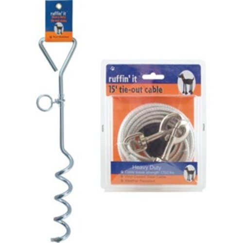 RuffiN It 780235 Spiral 18in. Tie-Out Stake