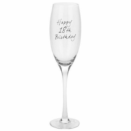 Lesser & Pavey 18th Birthday Champagne Flute Prosecco Glass Gift Boxed
