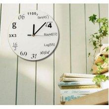 Innovative Wall Clock Modern Design Mathematic Maths Equation Decor