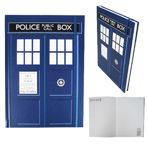 Doctor Who Official Hardback Lined Pages TARDIS Notebook
