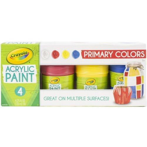 Crayola Acrylic Paint Set 4.25Oz 4/Pkg-Primary