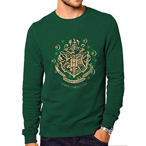 Harry Potter Men's Happy Hogwarts Sweatshirt, Green (forest Green), Xx-large -