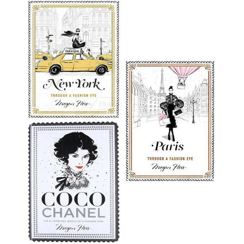 Megan Hess 3 Books Collection Set Fashion Cities of the World