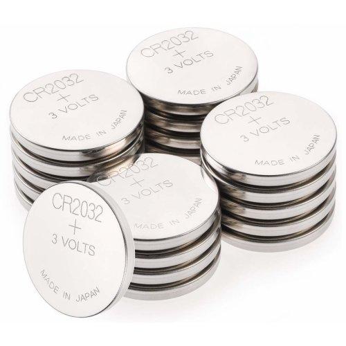 CR2032 Battery 3v Lithium (2032 / DL2032 - Box of 20 Batteries) GP Batteries