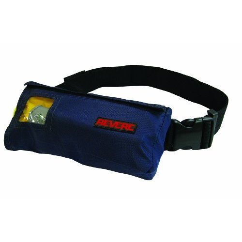 Revere ComfortMax Inflatable Belt Pack Type III Personal Flotation Device Navy Blue 30 52 Inch