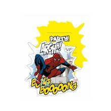 Unique Party 6 Ultimate Spiderman Art Invites & Envelopes - Birthday -  party spiderman birthday ultimate invitations invites comic 6 envelopes