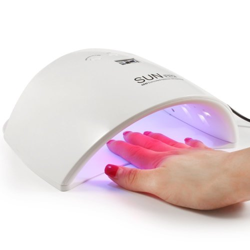 48W UV LED Nail Lamp Dryer Machine for Gel Polish Varnish with 3 Timer Setting (30s, 60s, 90s), 3 LED for Whiten Skin, Perfect Salon Tool for Hands...