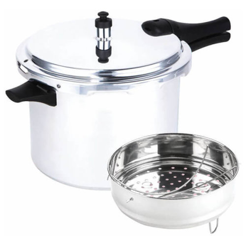 Prestige 47285 Pressure Cooker 8L Aluminium Medium Dome (with Accessories) - Induction hob Suitable Base - 12lbs PSI, Silver