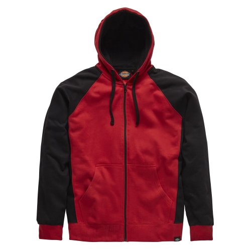 Dickies Two Tone Hoodie Red/Black (Various Sizes) Men's Work Jumper