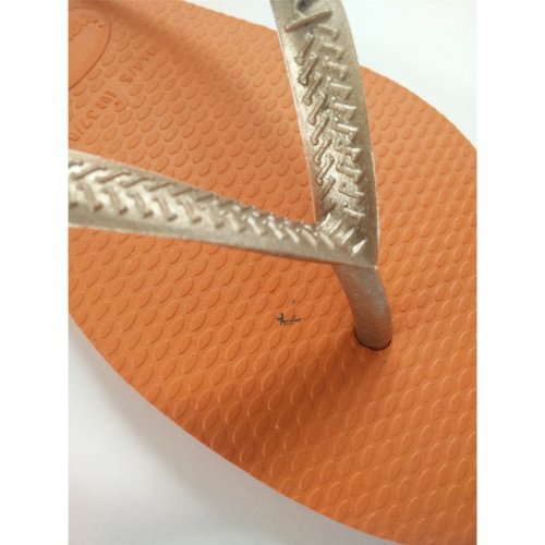 Havaianas Slim Pop Gold / Orange Flip Flops UK 3/4  (Br 35/36)