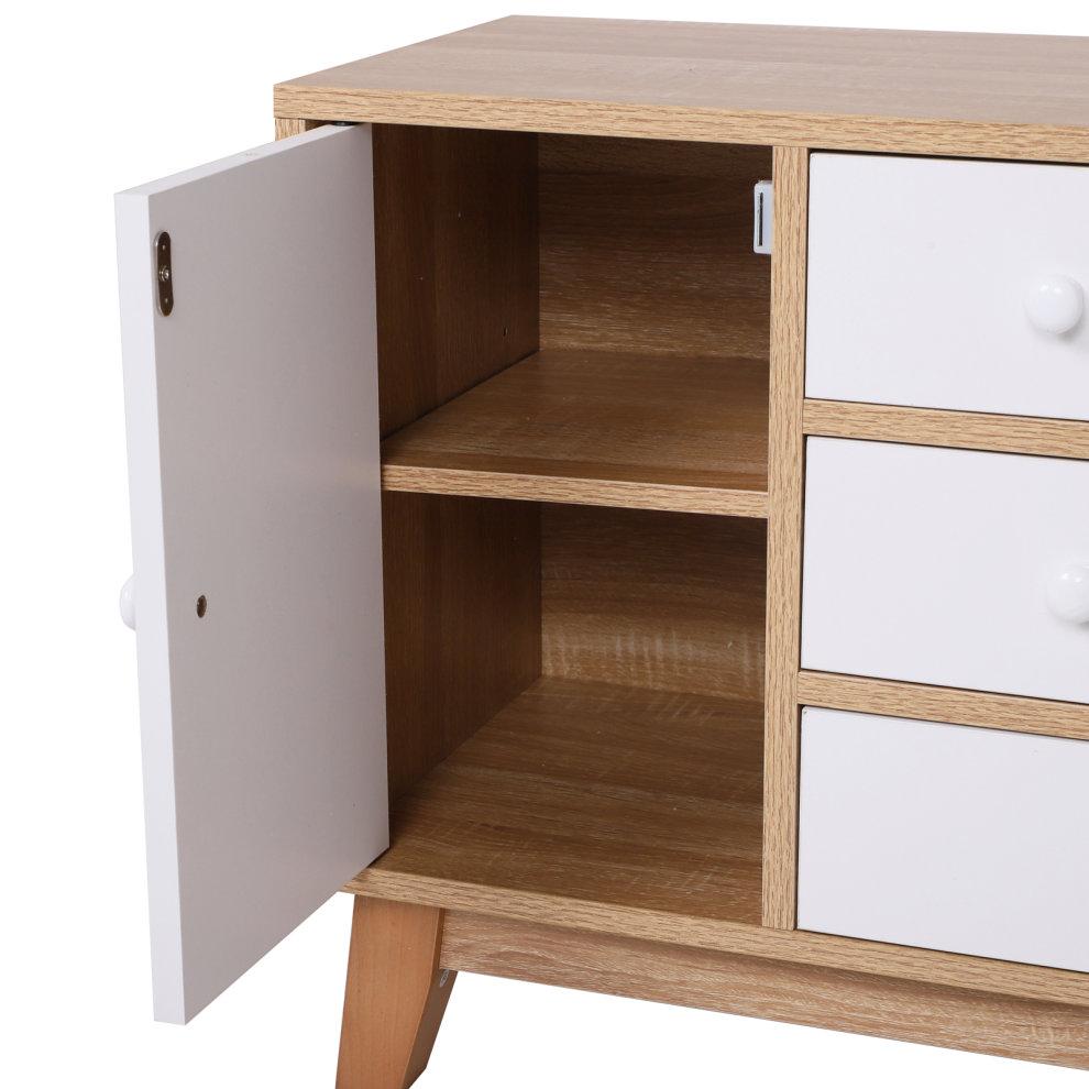 HOMCOM Seven Drawers Side Cabinet Storage Cupboard Bedside