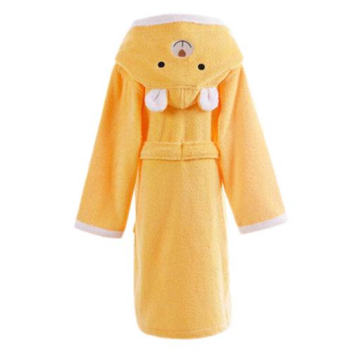 Children Cotton Bathrobe Soft Swim Bath Gown Robes Pajamas with Hat-A13