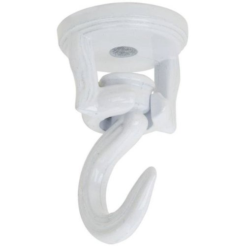 2 in. Swivel Swag Hook Plant Hardware Accessories N274-910, White