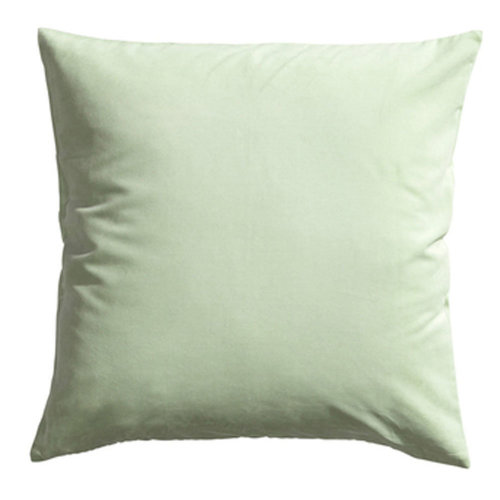 "17.7""x17.7"" Premium Solid Color Throw Pillow Soft Pillow Cushion, Light Green"