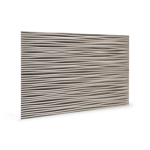 Profhome 3D 705054 Wilderness Brushed Nickel Decor panel 3D shiny grey 1,7 m2