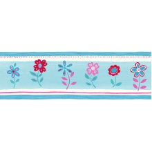 wallpaper border flowers pink - 177304