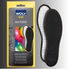 Uk1 Eu33 Childrens Woly Alu Fleece Insoles - Childs Insole S: 1 Warm Odour - Woly Alu Fleece Childs Insole S: 1 Warm Odour Prevention Cushioned Cold