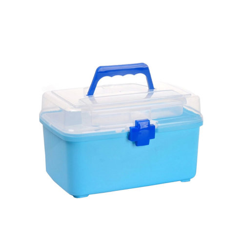"[BLUE]Creative Small Portable First Aid Kit Travel Medical Box, 10.2""x6.5"""