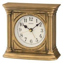 Seiko Antique Finish Mantel Alarm Clock - Gold (QXE052G)