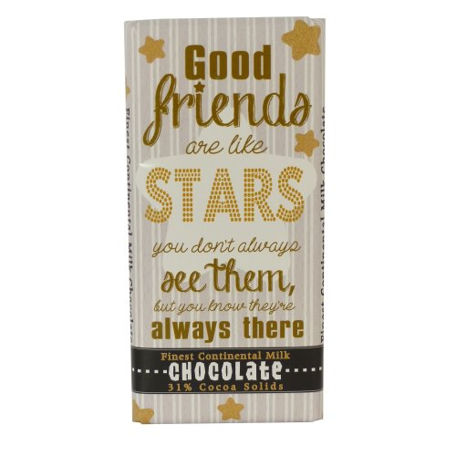 Chocolate Bar - Good Friends Are Like Stars