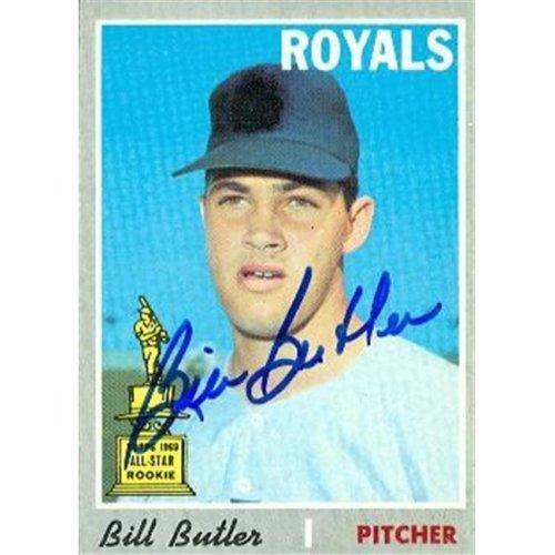 Autograph Warehouse 377118 Bill Butler Autographed Baseball Card - Kansas City Royals 1970 Topps No.377 All Star Rookie Cup