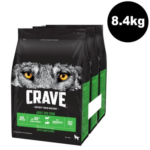 CRAVE Dog Complete With Lamb & Beef 3x2.8kg