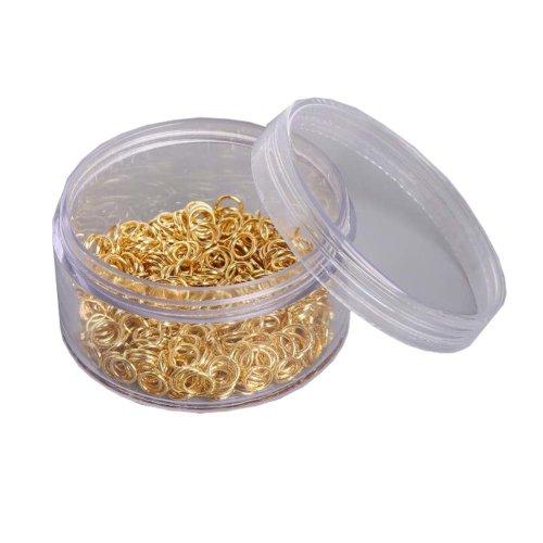 Iron Rings Accessories DIY Earrings Handmade Material Golden?800 Pcs ?
