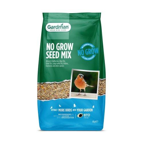 Gardman No Grow Seed Mix for Wild Birds - 4kg