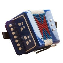 Kid's Toy Instrument /Kid's Accordion For Both Boys and Girls ,Blue