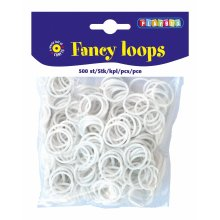 * Playbox - Loops (Loom Bands)- 500pcs white