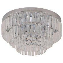 HOMCOM Crystal Light Chandelier, Ф40x30H cm-Steel/Crystal