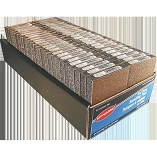 Dynamic AG000080 80 Grit Sided Sanding Pad Display Box - Pack of 50