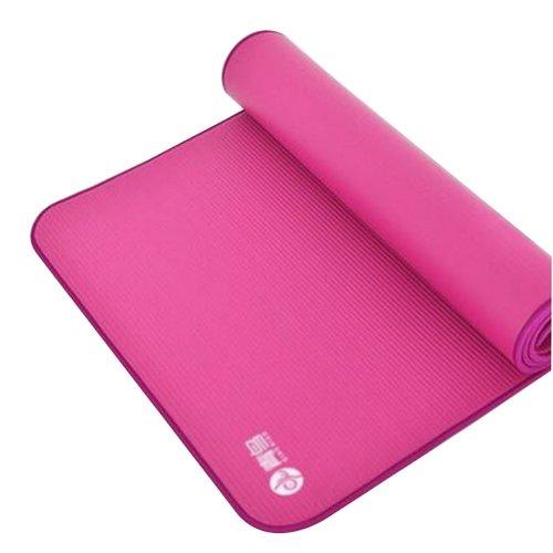 "Yoga Premium Mat Non-Slip and Durable 10mm 72.8x31.5"" [Pink]"