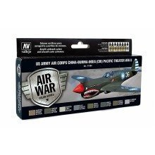 Val71184 - Av Vallejo Model Air Set - Us Air Corps Pacific Wwii (x8)