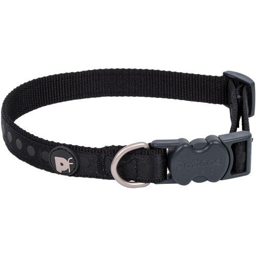 """Petface Tonal Dots Collar 8"""" To 14""""-Small-Black"""