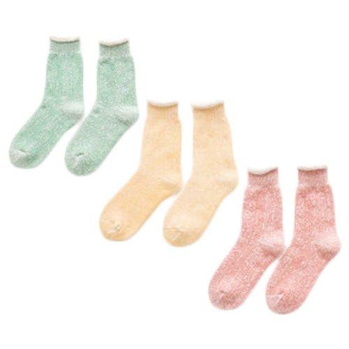 3 Pairs Adult Floor Socks Sleep Socks Winter Casual Socks #14