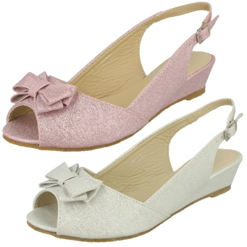 Girls Spot On Low Wedge Party Sandal