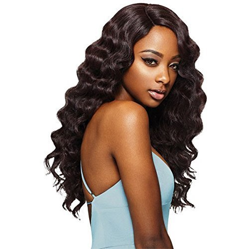 Outre Wig Lace Front High Temp Long Wavy Hair  ASHANI (1B)