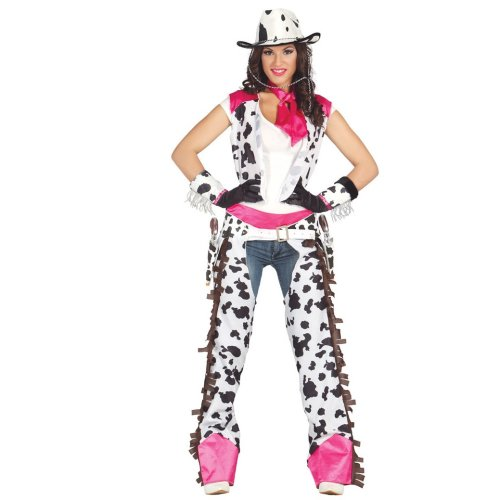Womens Rodeo Cowgirl Fancy Dress Costume 10 to 12