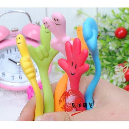 Novelty Bendable Funky Hand Shape Ballpoint Pen