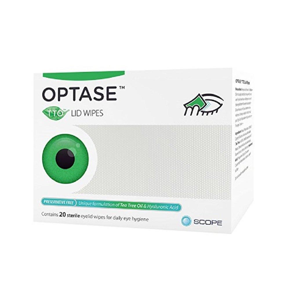 Optase Tea Tree Oil Lid Wipes - 20 Wipes