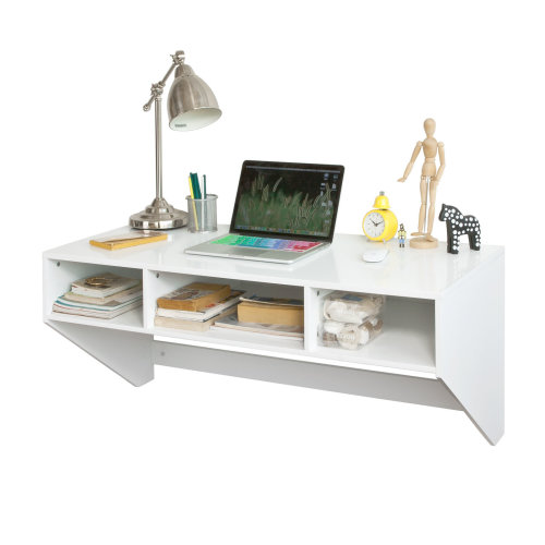 SoBuy® FWT14-W, White Home Office Computer Desk Workstation Wall-mounted Table Desk