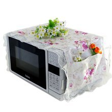Elegant Flowers Design Microwave Oven Protective Cover Dust-proof Cover, F