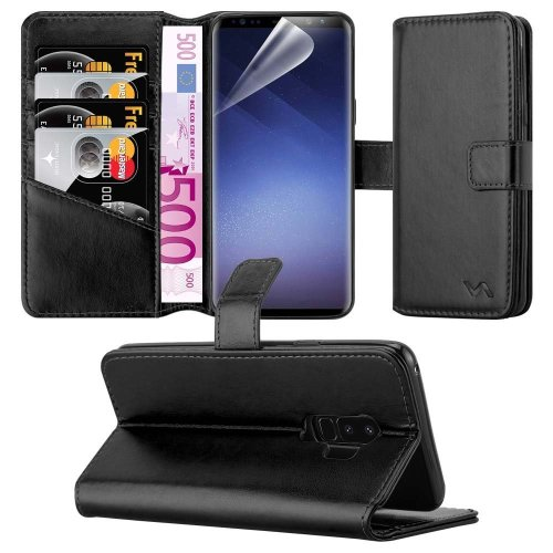For Galaxy S9+ Combines 3 Card Leather Wallet Case