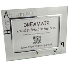 Personalised 9th Wedding Anniversary Photo Frame Pottery Anniversary (landscape)