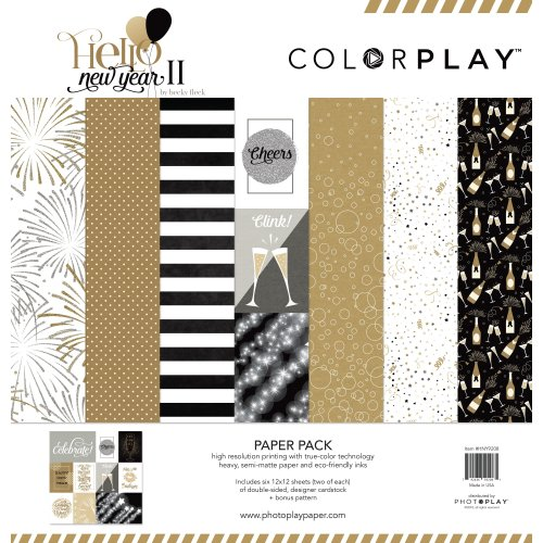 """Colorplay Collection Pack 12""""X12""""-Hello New Year Ii, 6 Designs/2 Each +"""