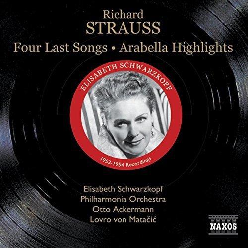 SCHWARZKOPF:PHILHARM:MATACIE - R STRAUSS: FOUR LAST SONGS [CD]