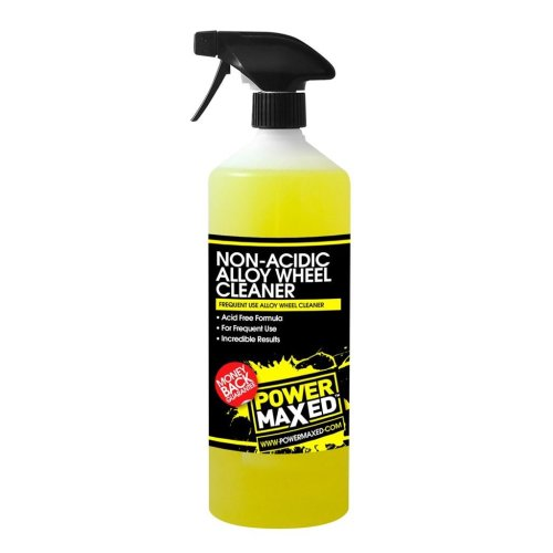 Power Maxed Frequent Use Non-Acidic Wheel Cleaner 1Ltr Ready To Use