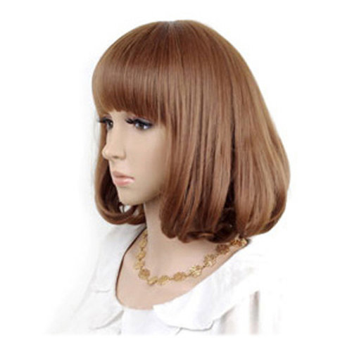 High Quality Fashion Sweet Lady Wig Short Hair Natural Bob Linen +Wig Cap+Comb