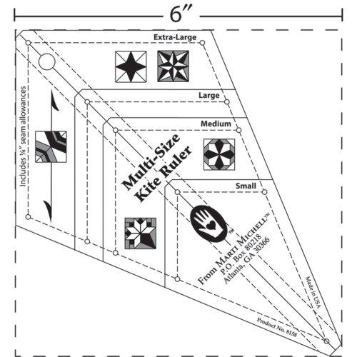 Marti Michell Multisize Kite Ruler-